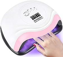 TWBEST Nageldroger, uv-lamp voor nagels, 168 W, uv-ledlamp voor nagels, professionele nagellamp met 10/30/60/99s timer,...