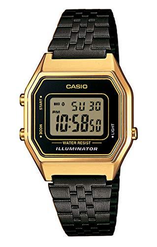 Casio Reloj Digital para Mujer de Cuarzo con Correa en Acero Inoxidable LA680WEGB-1AEF