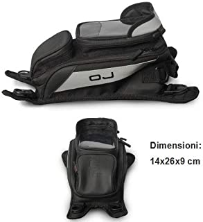 para Honda ST 1100 Pan European CBS ABS TCS Bolsillo OJ M167 Rookie 3,2LT UMBAU en Mochila para Tanque Moto Universal fijación con Correa Ajustable 14 x 26 x 9 cm