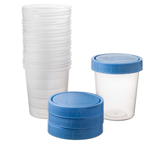 25 Vakly 4oz Specimen Cups with Screw On Lids