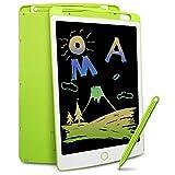 Richgv® - Tablet da scrittura LCD da 10 pollici, portatile, digitale, con interruttore di blocco di cancellazione, disegno senza carta, gioco per bambini, colore: Verde……