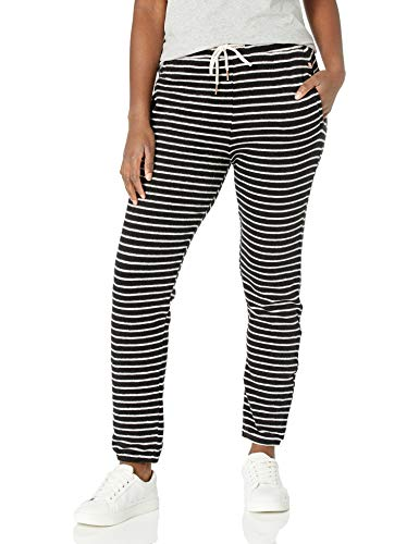 Volcom Women's Lived In Lounge Fleece Sweatpant, Black White, X-Small