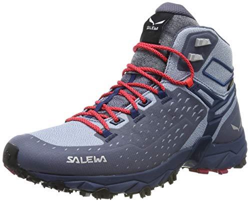 Salewa Damen WS Alpenrose Ultra Mid Gore-TEX Trekking- & Wanderstiefel, Grisaille/Poseidon, 43 EU