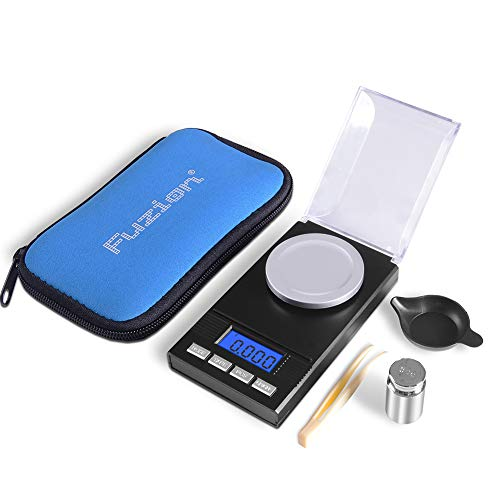 Fuzion Digital Milligram Scale 50g/ 0.001g, Portable Jewelry Scale with LCD Backlit, Tare, Powder Scale, Micro Scale for Powder Medicine, Gold, Gem, Reloading, Batteries Included