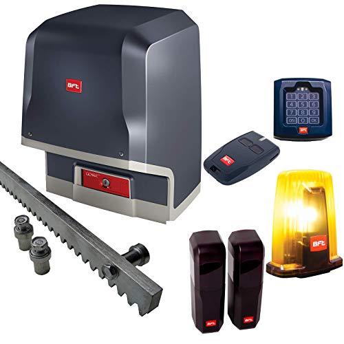 BFT Schiebetorantrieb ICARO-Ultra-Kit inkl. Codeschloss, Handsender, Lichtschranke, 6m Zahnstange und Warnblinkleuchte