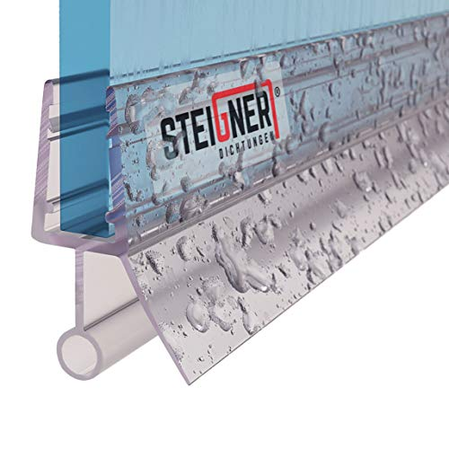 STEIGNER Duschdichtung, 40cm, Glasstärke 3,5/4/ 5 mm, Gerade PVC Ersatzdichtung für Dusche, UK18