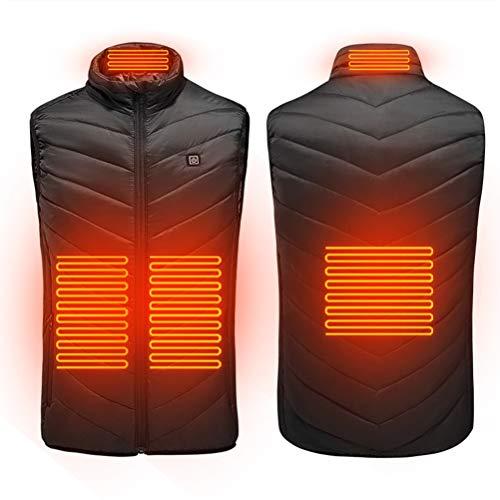 Kenyaw Verwarmbaar vest, lichtgewicht, verwarmd vest, voor outdoor, motorsport, fietsen, dagelijks dragen, uniseks, XL