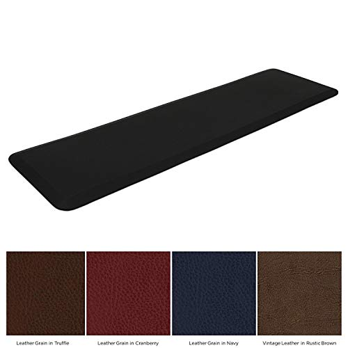 "NewLife by GelPro Garage & Kitchen Utility Comfort 1/2"" Thick Anti-Fatigue Floor Mat, 20"" x 72"", Black"