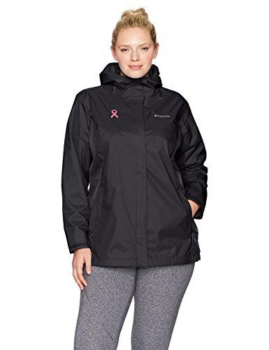 Columbia Women's Plus SizeTested Tough in Pink Rain Jacket Ii Size, Black, 2X