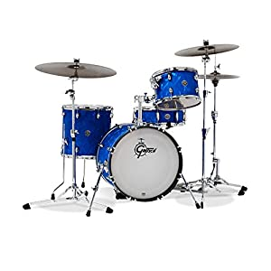 Gretsch Drums Catalina Club Jazz 4-Piece Shell Pack with Snare Drum - 18 Inches Kick - Blue Satin Flame