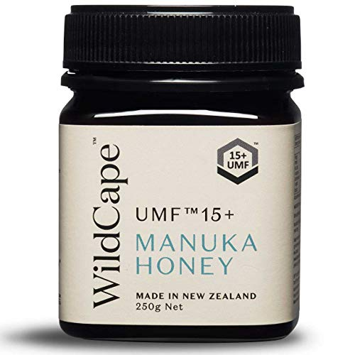 WildCape UMF Certified 15+ East Cape New Zealand Manuka Honey, 250g (8.8 oz)