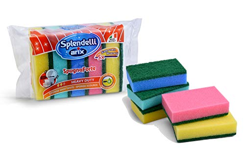 Arix Spendelli, Spugna abrasiva Colorata Confezione da 5 Pezzi, by