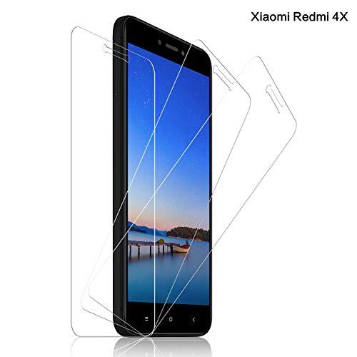SNUNGPHIR® Xiaomi Redmi 4X Cristal Templado Protector de Pantalla para Xiaomi Redmi 4X Alta Claridad 9H Dureza Anti-Rasguños Anti-Huellas Dactilares Libre de Burbujas Protección Ojos [3pcs]