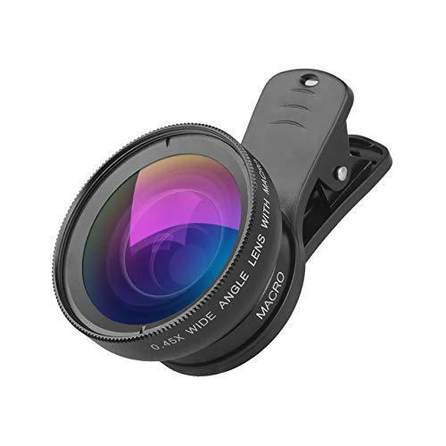 Apexel 0.45X Super Wide Angle 12.5X Super Macro HD Lens for Mobile Phone (APL-0.45WM) for iPhone Samsung Huawei Oppo Vivo