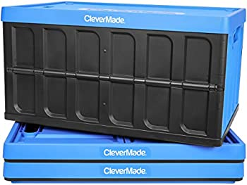 3-Pack CleverMade 62L Collapsible Storage Bins with Lids