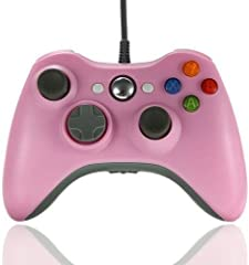 Xbox 360 Game Controller USB Wired Gamepad Game Joystick Joypad for Microsoft & Windows PC (Pink)