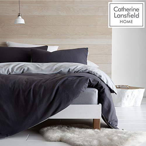 Catherine Lansfield So Soft Reversible Fleece King Duvet Set Grey
