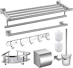 LXDZXY Handdoekrails, Handdoekbar Handdoekrek Handdoekhouder Handdoek Staaf-Dikke Roestvrijstalen Badkamer Hanger Set Plan...