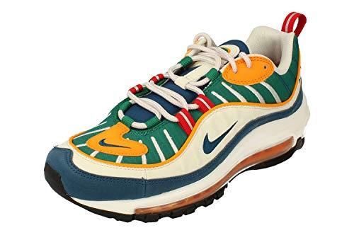 Nike W Air MAX 98, Zapatillas de Atletismo para Mujer, Multicolor (University Red/Blue Force/Orange Peel 000), 38 EU