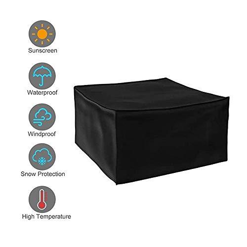 AMDHZ Extérieur Meubles de Jardin Couverture Protecteur Sofa Patio Table et chaises étanche Anti-poussière Four Seasons Universal, Noir (Color : Noir, Size : 100X50X80cm)