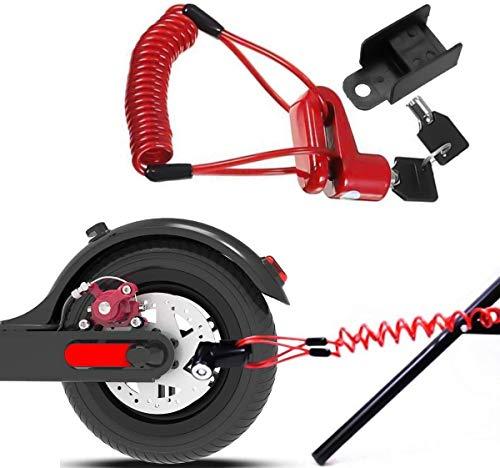 AIWEIYER Schijfremslot, Elektrische Scooter Schijfremslot Beveiligingsslot, Geschikt voor Elektrische Scooters Motorfiets Wielen Locker Met Herinnering Touw