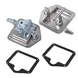 Yves 2pcs / set Remolque Caravana del pabellón Caja de herramientas plegable de la cerradura de bloqueo T Caja de herramientas plegable de la manija de cerrojo de acero inoxidable de montaje empotrado