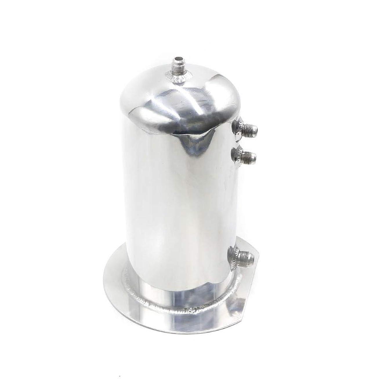 公式包括的尊敬アウトドアカーアクセサリー 普遍的な2.5リットル燃料サージキャッチ缶アルミポリッシュ燃料タンクオイルキャッチタンクレーシングオイルキャッチ缶