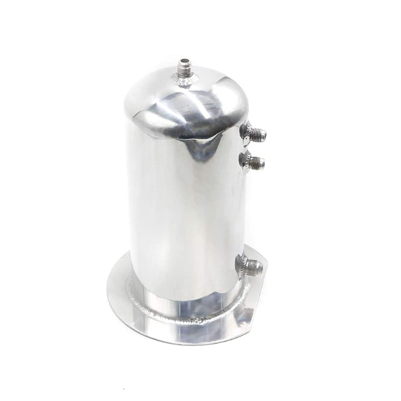 アウトドアカーアクセサリー 普遍的な2.5リットル燃料サージキャッチ缶アルミポリッシュ燃料タンクオイルキャッチタンクレーシングオイルキャッチ缶