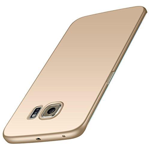 Samsung Galaxy S6 Edge Hülle, Anccer [Serie Matte] Elastische Schockabsorption und Ultra Thin Design für Samsung Galaxy S6 Edge (Glattes Gold)