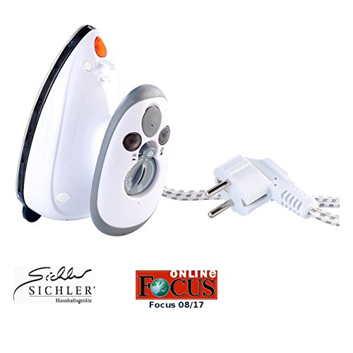 Sichler Haushaltsgeräte Mini Bügeleisen: Kompaktes Dampfbügeleisen für Reise & Urlaub, 110 & 230 Volt (Mini Dampfbügeleisen)