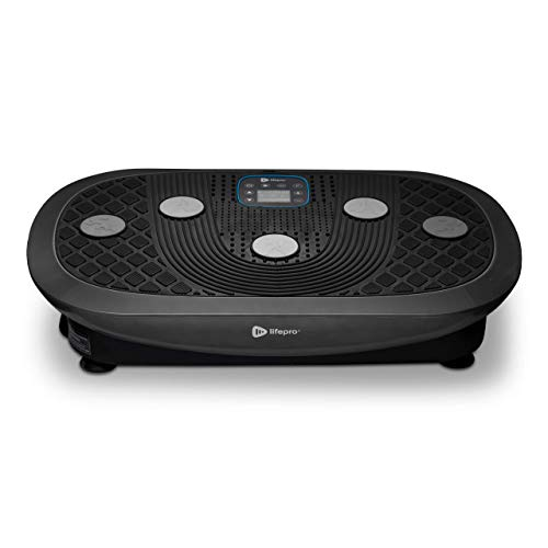 Rumblex Plus 4D Vibration Plate Exercise Machine - Triple Motor Oscillation, Linear, Pulsation + 3D/4D Motion Vibration Platform | Whole Body Viberation Machine for Weight Loss & Shaping. (Black)