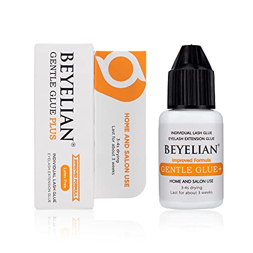 BEYELIAN DIY Individual Lash Glue,Sensitive Eyelash Extension Adhesive Cluster Lash Glue Gentle Glue Plus Improved Formula Low Irritation and Self Use