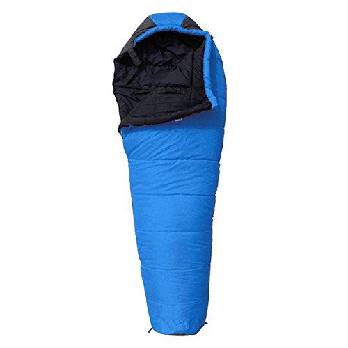 Xin.S Momie Sac De Couchage Léger Imperméable à L'eau Sac Compressible Adapté Pour Le Camping Sac à Dos Randonnée Sac De Couchage De Camping Multifonctionnel (bleu Et Rouge),Blue-210*80*50cm