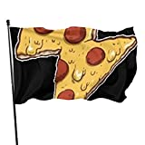 Viplili Drapeaux Lightning Shape Pizza Decorative Garden Flags, Outdoor Artificial Flag for Home, Garden Yard Decorations 3x5 Ft