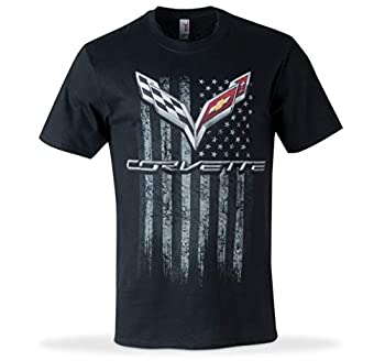 C7 Corvette American Legacy Men s T-Shirt  XXX-Large Black