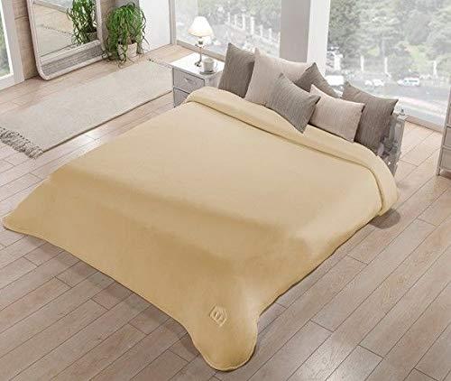 konov joyería pulsera Manta para cama de Matrimonio de tela dralón Inside efecto Terciopelo Art. Polo Color peso de invierno G/m2,, (Beige 06)