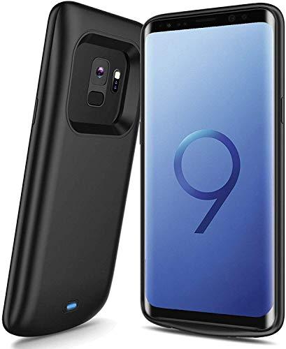 DrPhone Samsung S9+ (Plus) Powerbank ? Externe Batterij- 5200mAh - 360º volledige bescherming ? Zwart