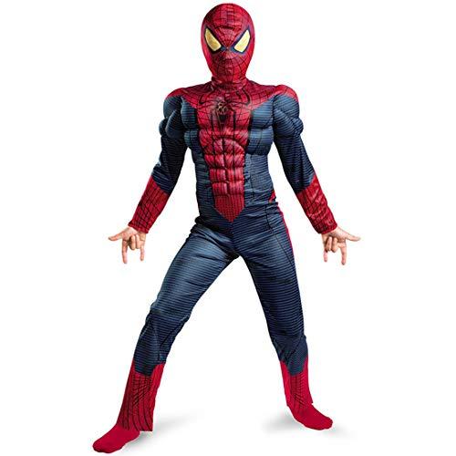 MODRYER Kinder Jungen Amazing Spider-Man Kostüm Film Muscle Superheld-Overall-Halloween-Party-Strampler Abendkleid-Klage,Kids/11~14 Years Old/L(130~140cm)