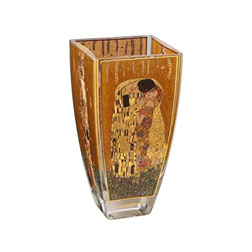 Goebel 66-901-79-1 Vase Gustav Klimt - Der Kuss, Porzellan, 8,5 x 8,5 x 16 cm, Gold