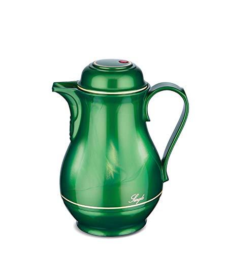 ROTPUNKT Isolierkanne 530 0,5 l (Shiny Jade) | Doppelwandige Vakuumisolierung | Zweifunktions-Drehverschluss | BPA Frei- gesundes Trinken | Made in Germany | Warm + Kalthaltung | Glaseinsatz