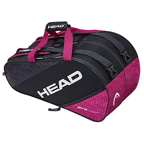 HEAD Tennis Tasche Damen,Tennis Tasche, Tennis Tasche Nike,Tennis Tasche Wilson,Angie Kerber Tennis Tasche,artengo Tasche Tennis Elite Padel Supercombi Tennistasche, anthrazit/pink, One Size