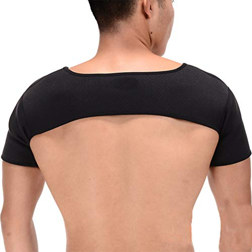Exceart Double Shoulder Support Shoulder Wrap Protector Shoulder Strap Brace for Outdoor Hiking Lifting Sports (Size S)