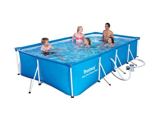Bestway Family Splash Frame Piscina Azul 400x 211x 81cm + + Filtro de Cartucho 2,01mᶟ/H