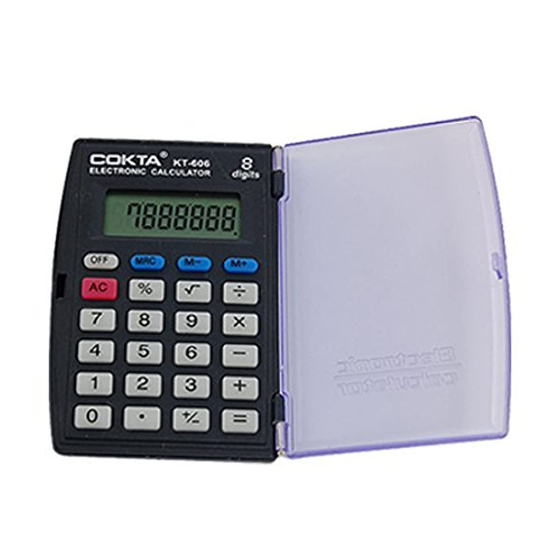 上向き賞賛するウェイドDealMuxプラスチック8桁のポケットサイズの電卓、トライ色