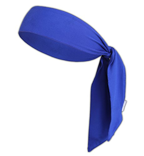Head Tie & Sports Headband - Ninja Bandana & Karate Tie Back Hair Band/Wrap for Men, Women, Kids & Pirates - Athletic Sweatband for Tennis, Basketball, Softball, Running, Workout - Sweat Wicking