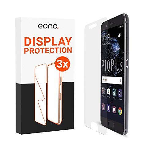 Amazon Brand – Eono Panzerglas kompatibel mit P10 Plus - HD Schutzglas gegen Bildschirmbruch, Kratzer - Hüllenfre&lich, 2.5D, 9H Stärke - 3 Stück