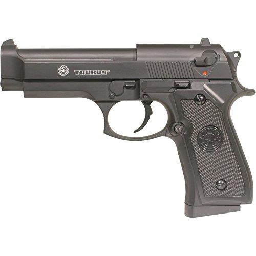 CyberGun - Pistola a molla per softair Taurus PT92 / M9, con culatta in metallo, colore nero, sistema Bax, 0,5 joule