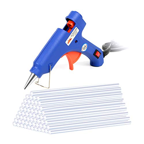 Newkiton Hot Melt Glue Gun with 60pcs 220mm Glue Sticks, Electric High Temperature for DIY Small Craft Projects
