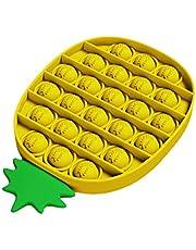 Hinder Push Pop Pop Bubble Sensorisk Fidget leksak, Stresslindring Speciella behov Tyst klassrum (gul)