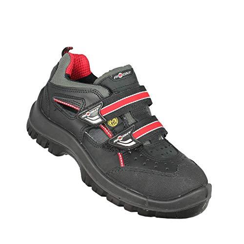 Aimont Deneb ESD Elektriker S1P SRC Sicherheitsschuhe Arbeitsschuhe Trekkingschuhe Sandale Schwarz, Größe:38 EU